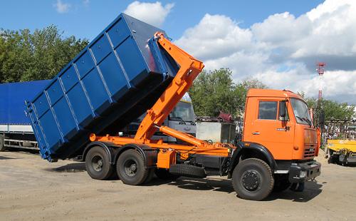 Вывоз строительного мусора мультилифтом